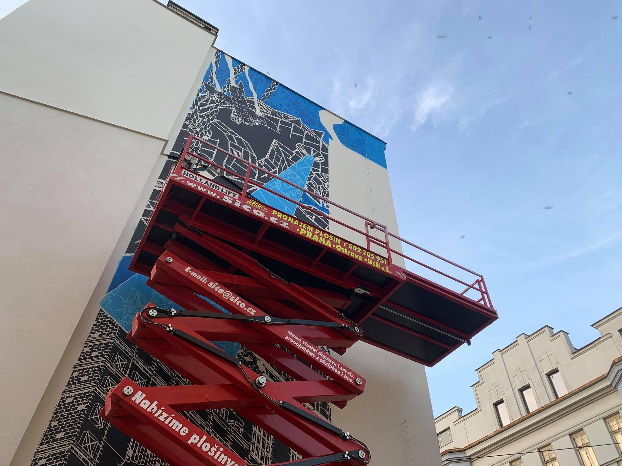 Mural art od M-CITY a spolupráce se SICO RENT